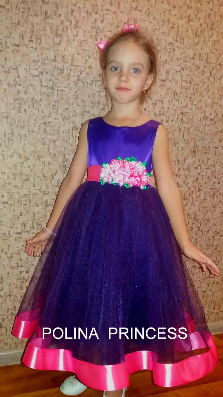 d8f9c6a79ff Нарядное платье фиолетовое на рост 116 - 122 см - интернет- магазин  Нарядные платья для