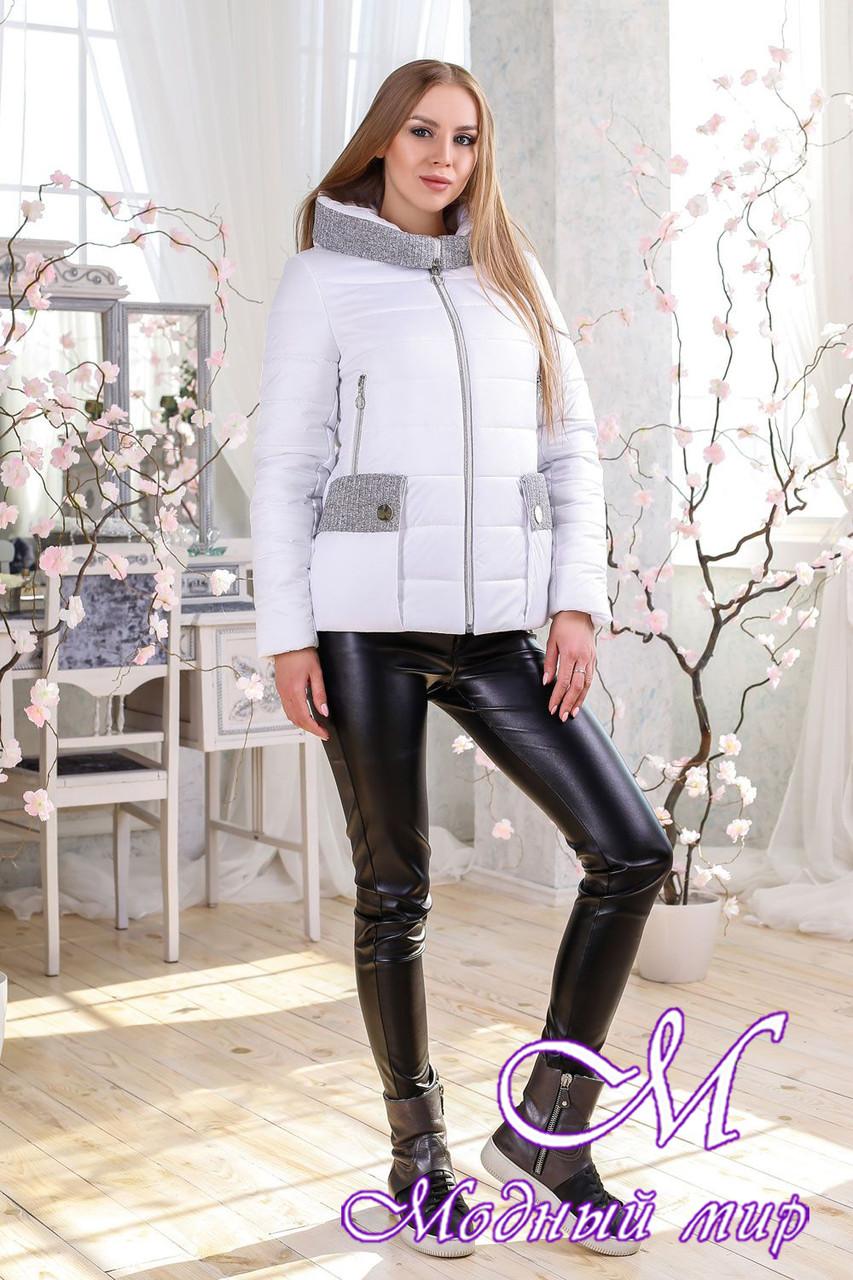 Женская белая демисезонная куртка (р. 44-56) арт. 1111 Тон 10