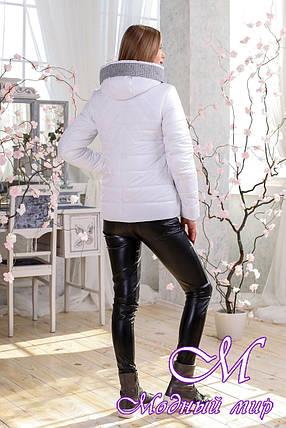 Женская белая демисезонная куртка (р. 44-56) арт. 1111 Тон 10, фото 2