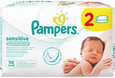 Детские влажные салфетки PAMPERS Sensitive, 112шт.