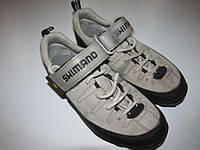 Велотуфли кожаные SHIMANO, 38р. 24 см. в хорошем сост.