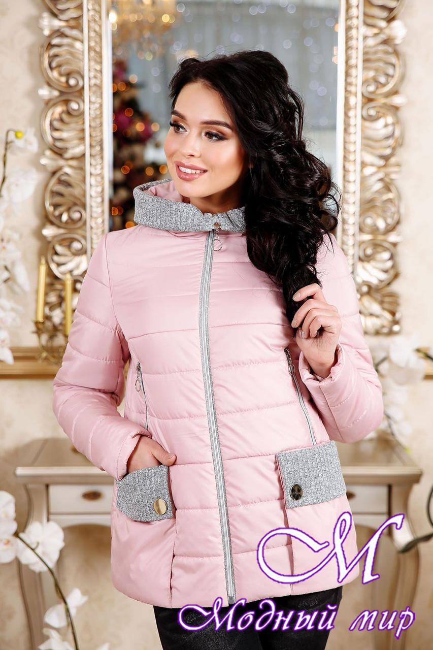 Стильная молодежная женская куртка весна-осень (р. 44-56) арт. 1111 Тон 28