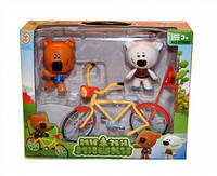 МиМиМишки Игрушки Набор фигурок с велосипедом