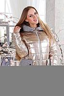 Женская демисезонная куртка фольга больших размеров (р. 44-56) арт. 1111 Тон 3