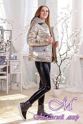 Женская демисезонная куртка фольга больших размеров (р. 44-56) арт. 1111 Тон 3, фото 2