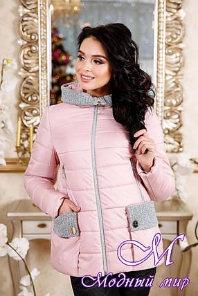 Демисезонная молодежная женская куртка больших размеров (р. 44-56) арт. 1111 Тон 28, фото 2