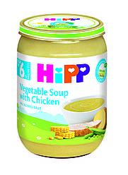 Акція -6% Овощной суп HiPP с курицей 6х190 г (ящик)