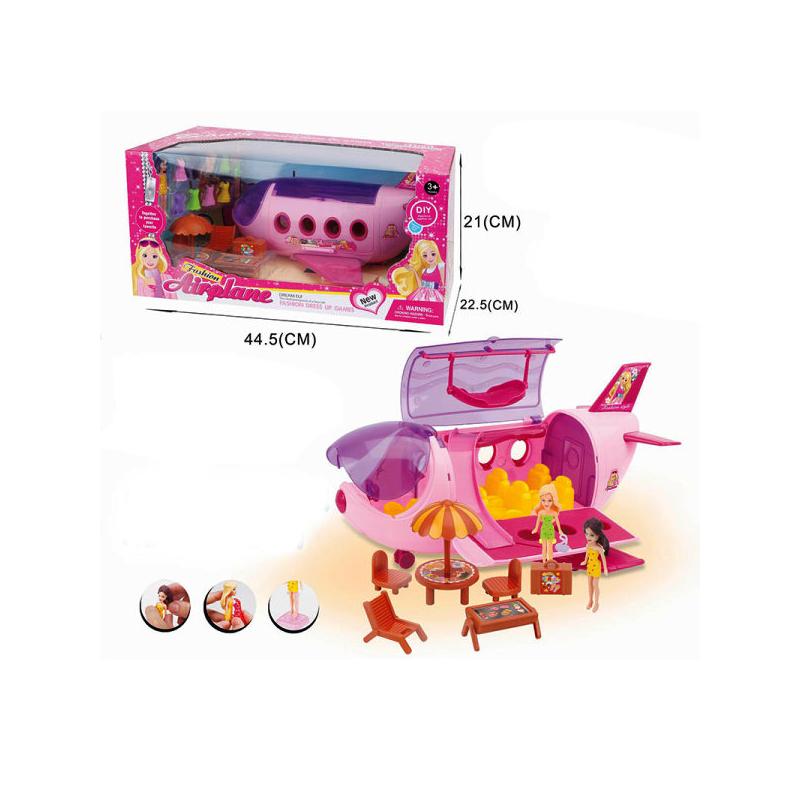 Игровой набор Самолет + 2 куклы ТМ 812