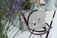 """Жіноча сумка з фетру """"Іndividual3"""" сумка ручної роботи від української майстерні PalMar, сумка с войлока"""