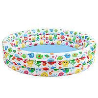 Бассейн детский надувной Intex 56440, разноцветный всплеск, 3 кольца, 481 л, 2,183 кг, 168 -41см