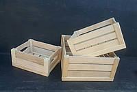 Набор квадратных деревянных ящиков, 3шт