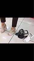Женские босоножки на высоком удобном каблуке
