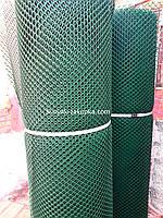 Забор садовый.Ячейка 12х14 мм, рул. 1.5м х 30 м (темно-зеленая).Ромб(Сота).