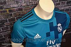 Футбольная форма Реал Мадрид 2017-2018 (Выездная голубая) -Топ качество, фото 3