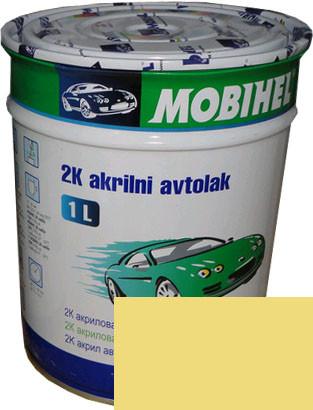"""Автокраска 210 Эмаль акриловая Helios Mobihel """"Примула"""" 1л без отвердителя"""