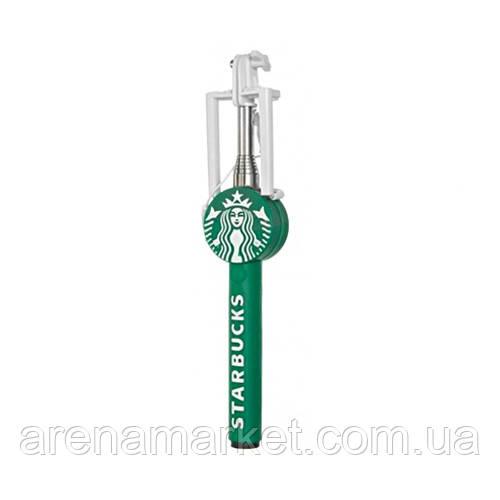 Монопод селфи-палка Starbucks на проводе