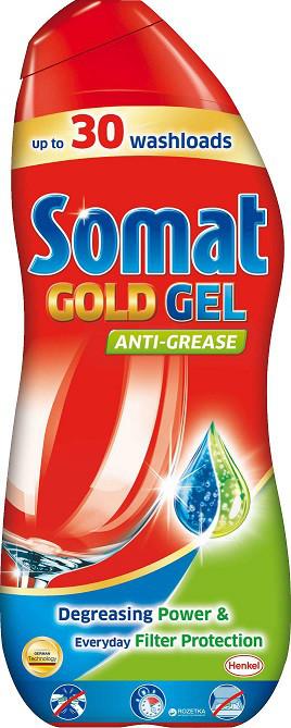 Розпродаж -40% Гель для посудомоечных машин Somat Gold Анти-Жир, 600мл