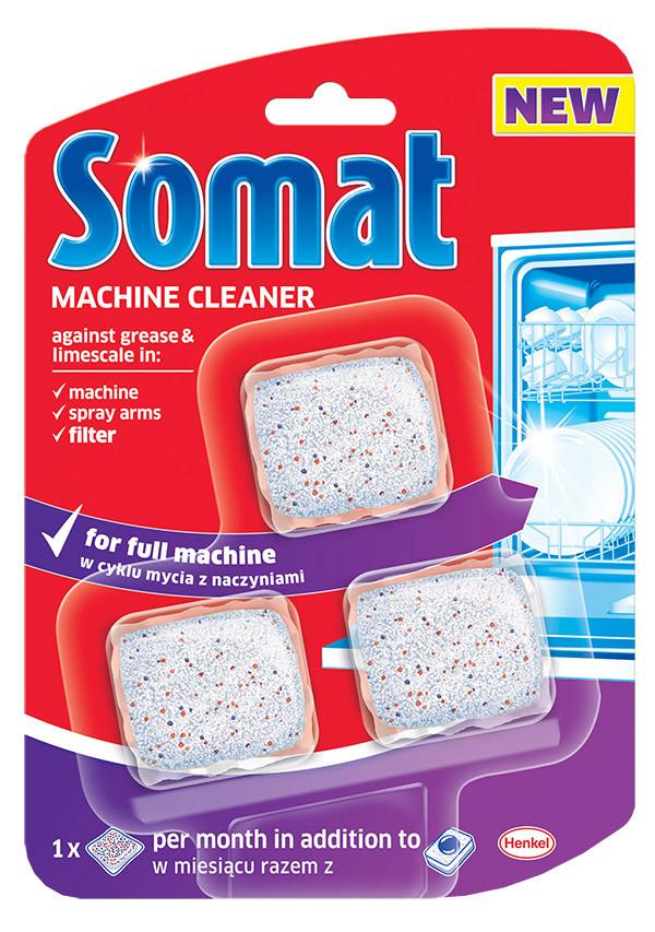 Средство для ухода за посудомоечными машинами Somat, 3 таблетки, 60г