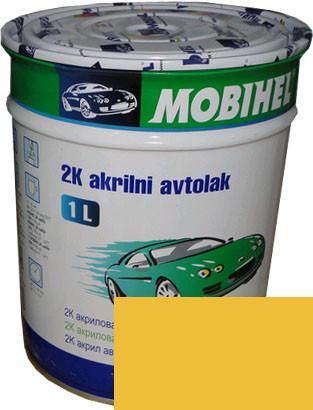 """Автокраска 225 Эмаль акриловая Helios Mobihel """"Желтая"""" 1л без отвердителя"""