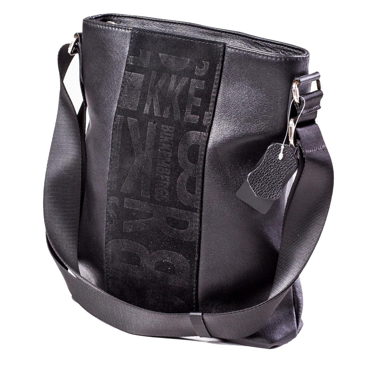 Мужская сумка кожаная черная Eminsa 6112-12-1