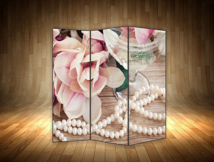 """Ширма декоративна"""" Квітка з перлами"""""""