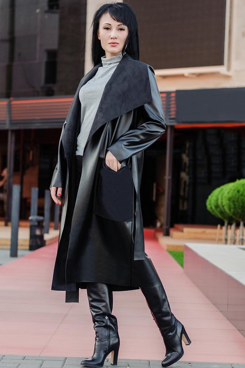 Женские пальто из экокожи *БАРСЕЛОНА*