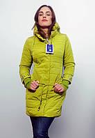 Демисезонная куртка Visdeer весеннего  сочного оттенка ЛАЙМ   Размеры до 3XL
