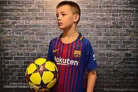 Футбольная форма Барселона домашняя 2017-2018  детская Месси оригинальное качество
