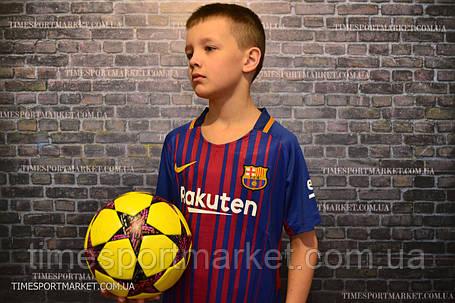 Футбольная форма Барселона 2017-2018 (домашняя детская Месси) -оригинальное качество, фото 2