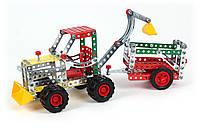 Конструктор металлический «Трактор с прицепом ТехноК», арт. 4876