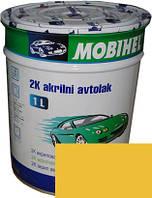 """Автокраска 225 Эмаль акриловая Helios Mobihel """"Желтая"""" 0,75л без отвердителя"""