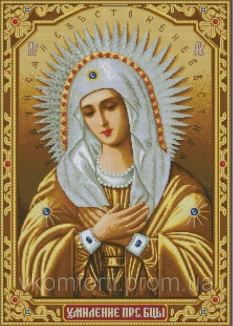Икона камнами Умиление (Серафимо-Дивеевская) 55х77,5см