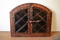 Хлебная пекарская дверка металл+ковка арка на 2е половинки.