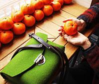 """Жіноча сумка з фетру """"Іndividual4"""" сумка ручної роботи від української майстерні PalMar, сумка с войлока, фото 1"""
