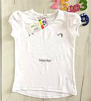 Детская белая футболка на девочку