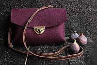 """Жіноча сумка з фетру """"Іndividual5"""" сумка ручної роботи від української майстерні PalMar, сумка с войлока, фото 1"""