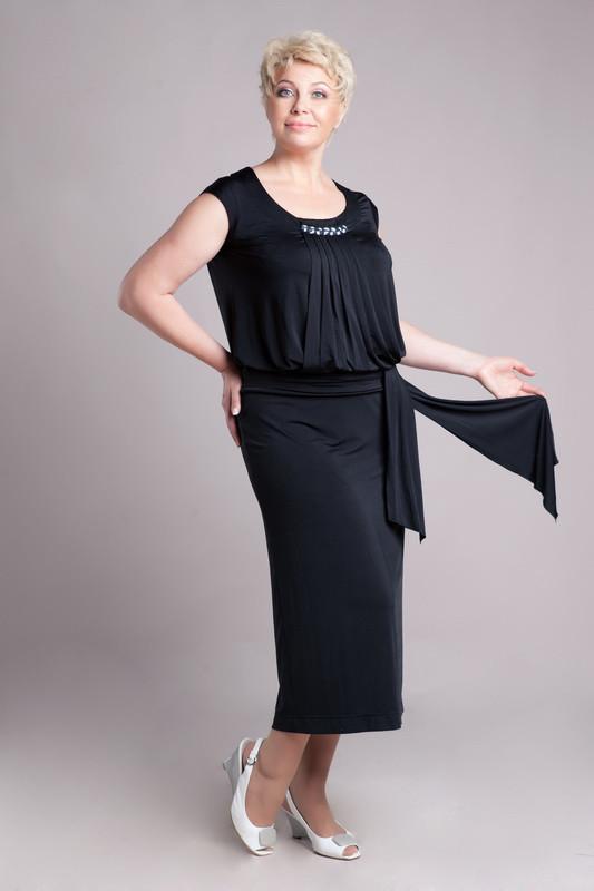 Женское платье Petro Soroka черное масло-трикотаж МТ-0583-04