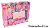 """Кукла типа """"Барби""""Anlily""""99046 сумка превращается в шкафы д/одежды, платья,аксессуары,в кор"""