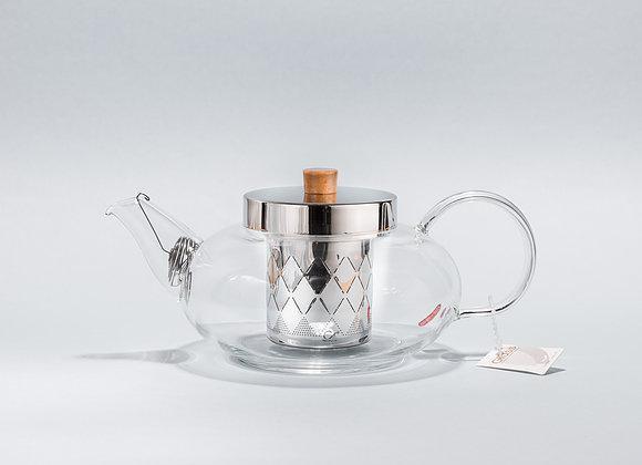 """Стеклянный заварник для чая """"CHI KAO"""" 800мл."""