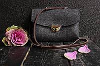 """Жіноча сумка з фетру """"Іndividual6"""" сумка ручної роботи від української майстерні PalMar, сумка с войлока"""
