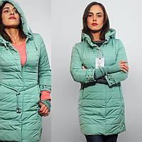 Демисезонное пальто -куртка Visdeer - замечательный вариант для городского шика Размеры до 50