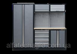 Рабочий модуль для хранения инструмента серый 2275 x 460 x 2000
