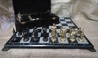 Эксклюзивные шахматы из мрамора,фигуры из бронзы