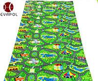 Детский коврик большой игровой с рисунком Городок 2000*1100*8 мм