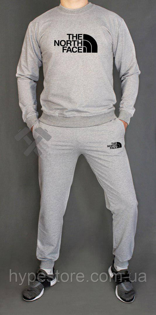 Спортивный серый костюм The North Face (серый), Реплика