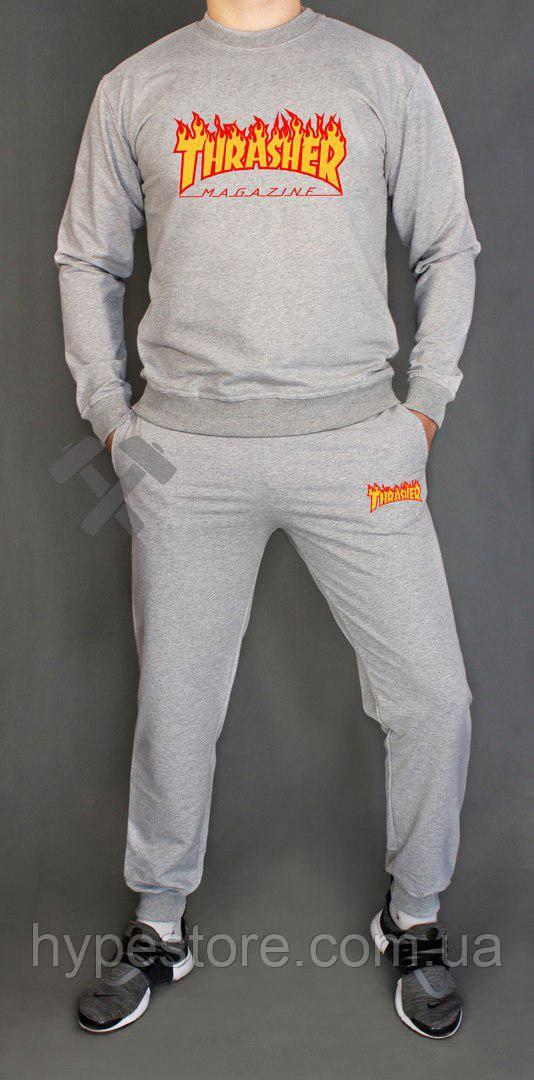 Спортивный серый костюм Thrasher (серый), Реплика
