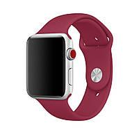 Силиконовый ремешок для Apple Watch Sport Band 38/42 mm - Rose Red