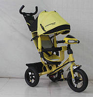 Детский трехколесный велосипед Azimut T1 Crosser 2016 Надувные Колеса Желтый