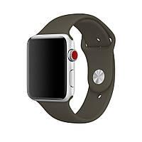Силиконовый ремешок для Apple Watch Sport Band 38/42 mm - Dark Olive