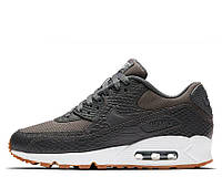 "Кроссовки Nike Air Max 90 Premium ""Dark Grey/Gum Yellow/White"" Арт. 2260"